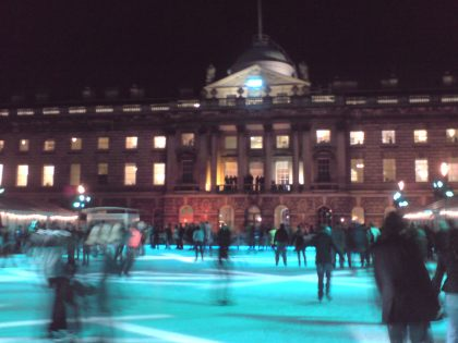 Ice Skating @ Somerset House, London