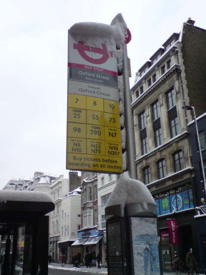 Ice age in der Oxford Street