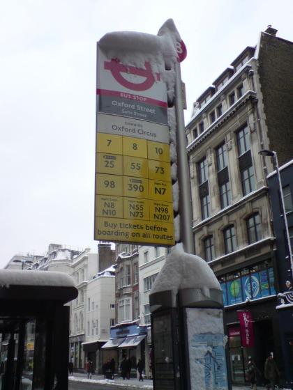Ice age in der Oxford Street