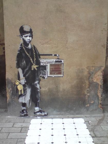 Banksy - Gilette Square, Dalston, Hackney