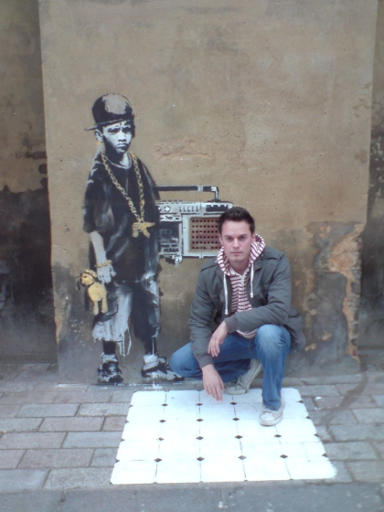 Street Art am Gilette Square in Dalston, Hackney - Banksys neues Werk; Jacques Frisch, Foto: Meike