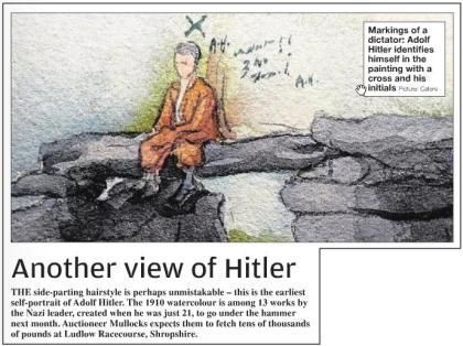 Hitler-Selbstportrait; Quelle: Metro