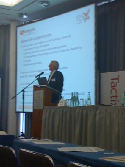 Robert Glasgow, Webgains-Gründer bei der Affiliate TactixX 2009