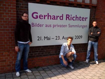 mit Pasek und Norman bei der Gerhard Richter Ausstellung in Dusiburg